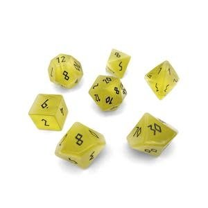 Norse Foundry Norse Foundry Dice: Gemstone Dice Set - Cats Eye : Yellow