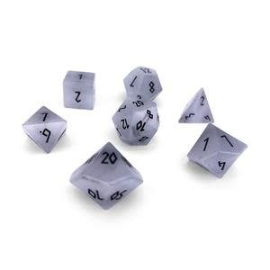 Norse Foundry Norse Foundry Dice: Gemstone Dice Set - Cats Eye: Clear