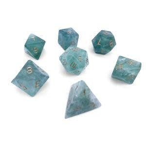Norse Foundry Norse Foundry Dice: Gemstone Dice Set - Green Fluorite