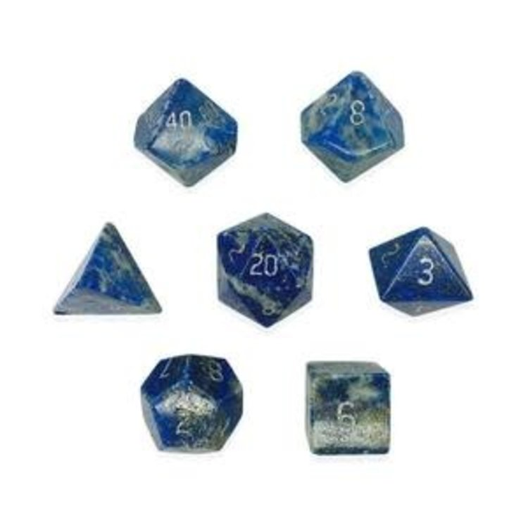 Norse Foundry Norse Foundry Dice: Gemstone Dice Set - Lapis Lazuil