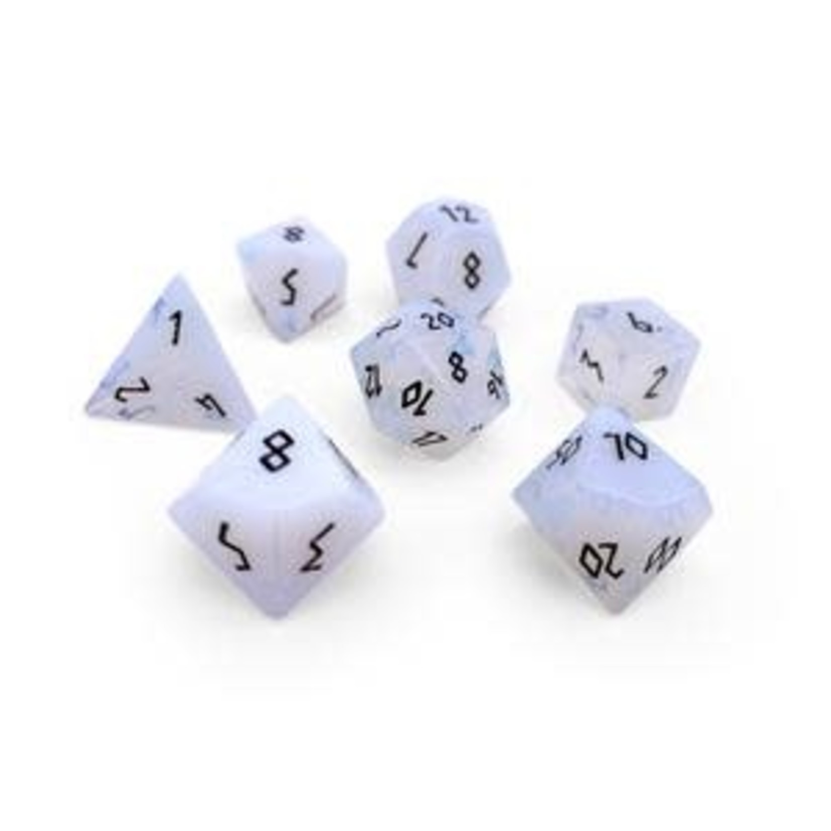 Norse Foundry Norse Foundry Dice: Gemstone Dice Set - Opalite