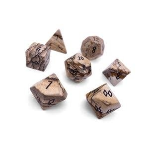 Norse Foundry Norse Foundry Dice: Gemstone Dice Set - Picture Jasper