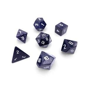 Norse Foundry Norse Foundry Dice: Gemstone Dice Set - Blue Sandstone