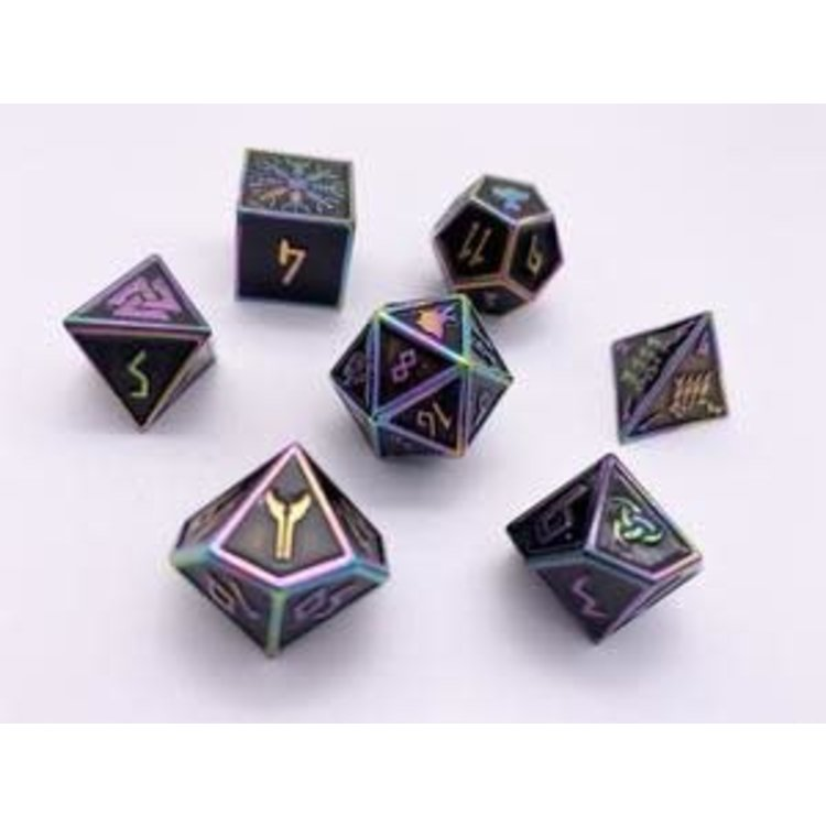 Norse Foundry Norse Foundry Dice: Enamel Norse Dice Set - Fallen Star