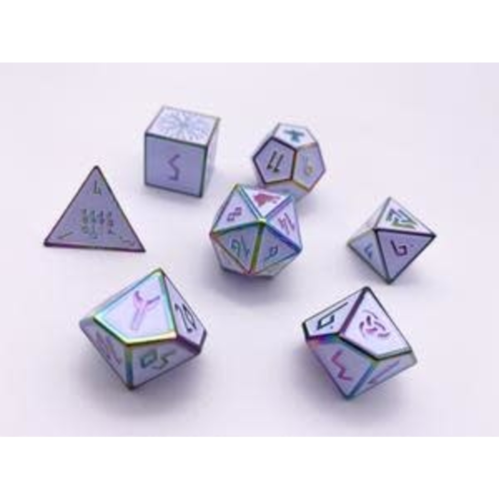 Norse Foundry Norse Foundry Dice: Enamel Norse Dice Set - Ice Storm