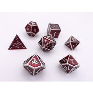 Norse Foundry Norse Foundry Dice: Enamel Norse Dice Set - Vampire Blood