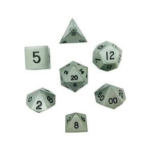 Norse Foundry Norse Foundry Dice: Metal Dice Set - Aged Mithral