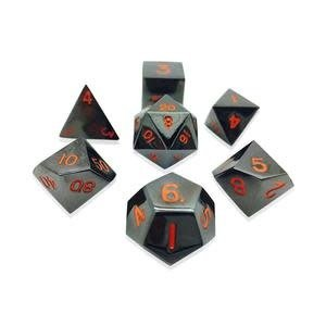 Norse Foundry Norse Foundry Dice: Metal Dice Set - Black Lava