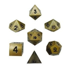 Norse Foundry Norse Foundry Dice: Metal Dice Set - Dragon's Gold