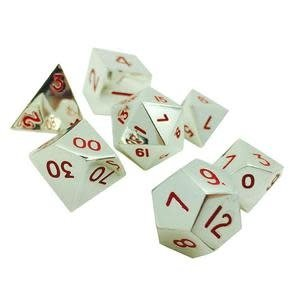 Norse Foundry Norse Foundry Dice: Metal Dice Set - Lycanthrope Silver