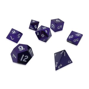Norse Foundry Norse Foundry Dice: Metal Dice Set - Bardic Purple