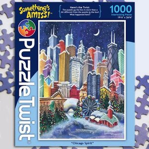 Puzzle Twist Puzzle Twist - 1000 Piece Puzzle: Chicago Spirit