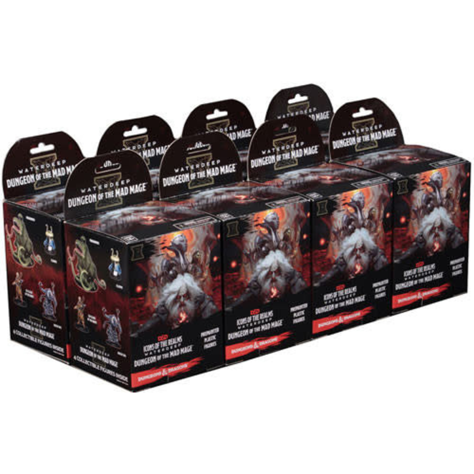 WizKids Dungeons and Dragons 5th Edition: Mad Mage Miniatures Booster Brick (8)