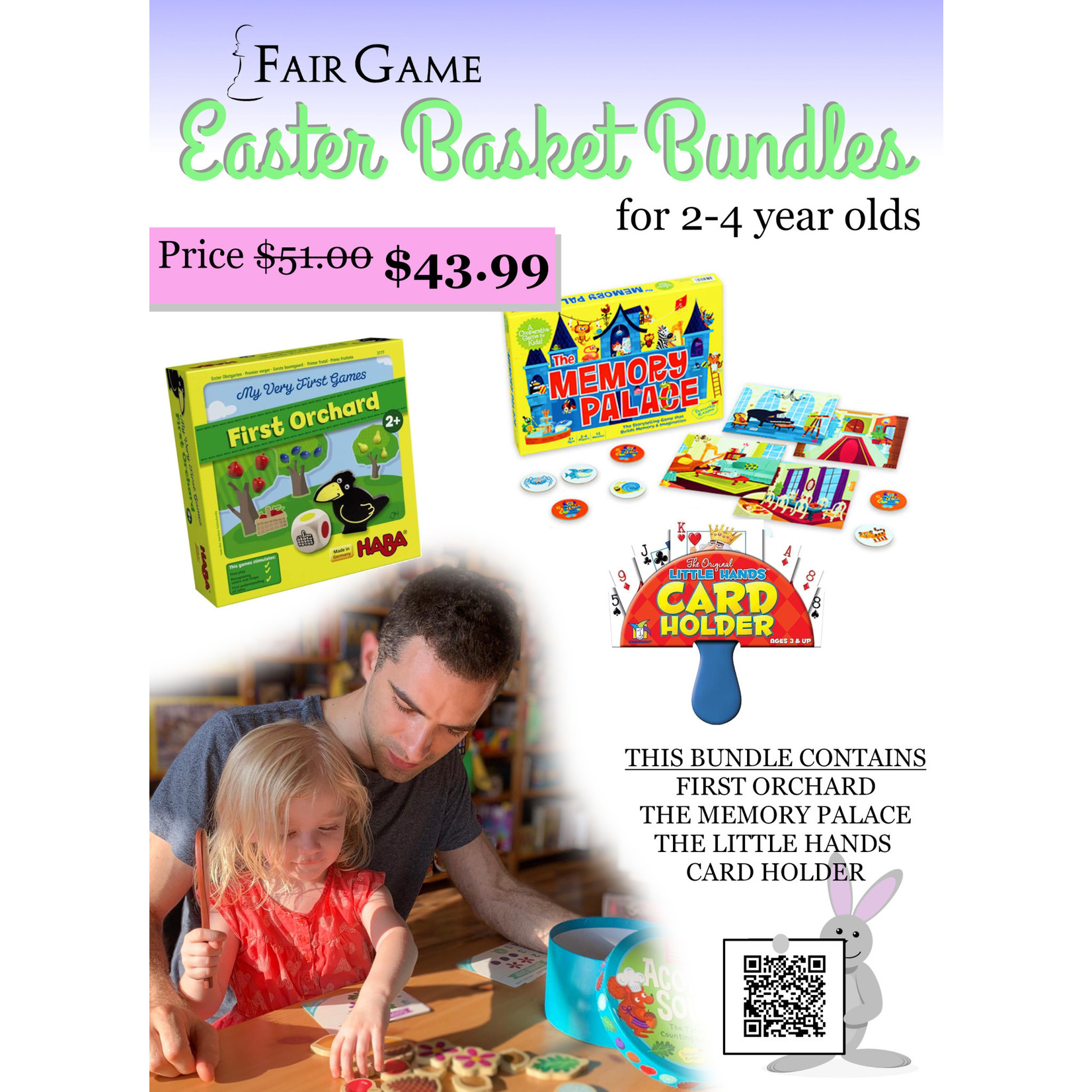 Fair Game Easter Basket Bundle for Ages 2-4