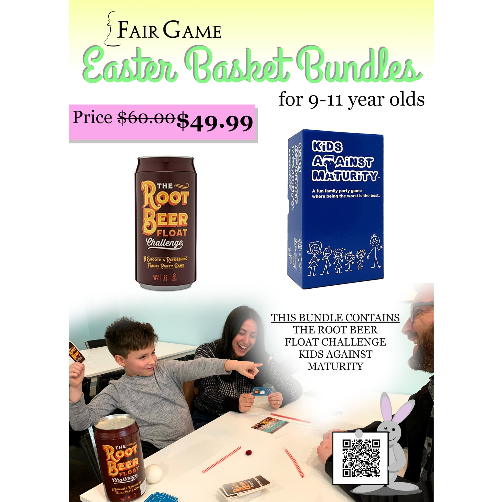 Fair Game Easter Basket Bundle for Ages 9-11