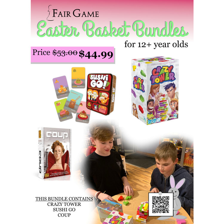 Fair Game Easter Basket Bundle for Ages 12+