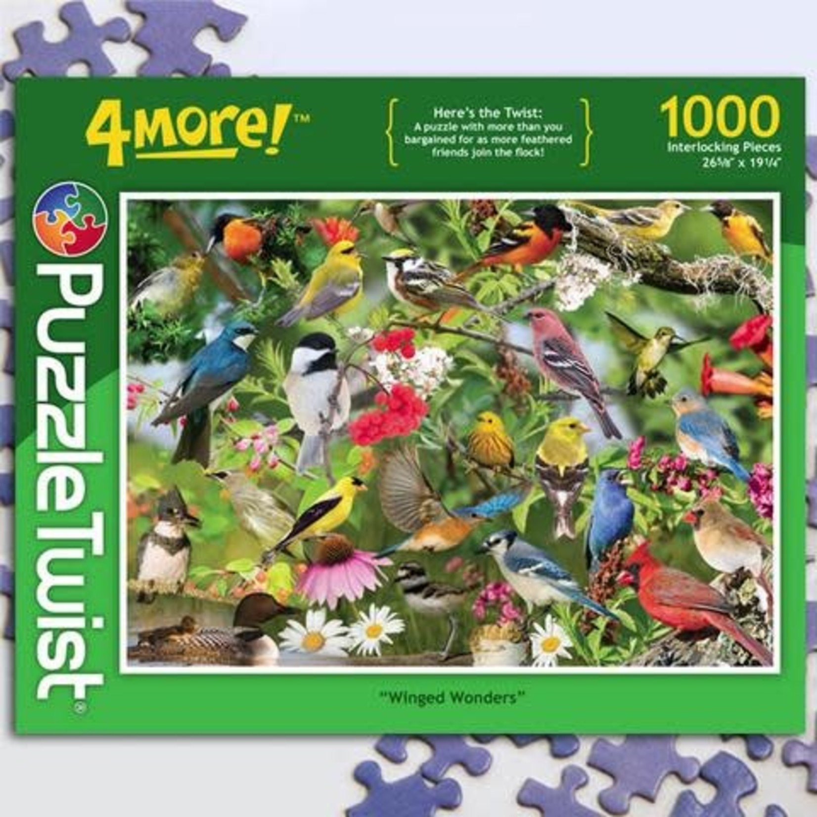 Puzzle Twist Puzzle Twist - 1000 Piece Puzzle: Winged Wonders