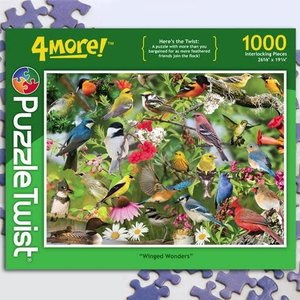 Puzzle Twist Puzzle Twist - 1000 Piece Puzzle: Winged Wonders
