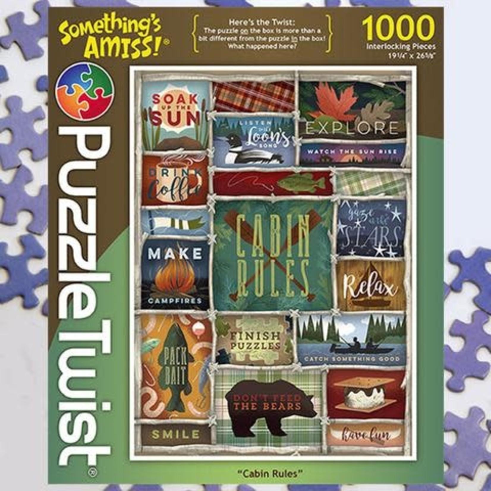 Puzzle Twist Puzzle Twist - 1000 Piece Puzzle: Cabin Rules