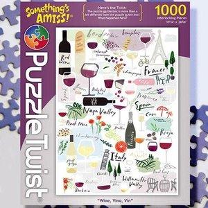 Puzzle Twist Puzzle Twist - 1000 Piece Puzzle: Wine, Vino, Vin