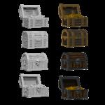 WizKids WizKids Deep Cuts Unpainted Miniatures: Chests (W2)