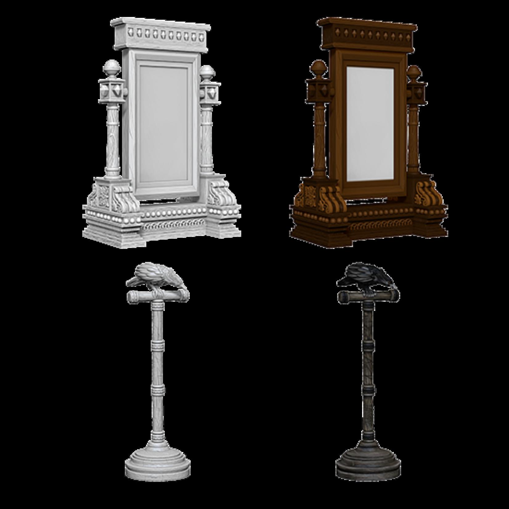 WizKids WizKids Deep Cuts Unpainted Miniatures: Mirror & Bird on Stand (W5)