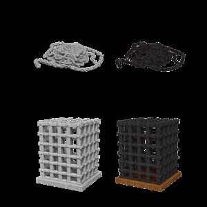 WizKids WizKids Deep Cuts Unpainted Miniatures: Cage & Chains (W6)