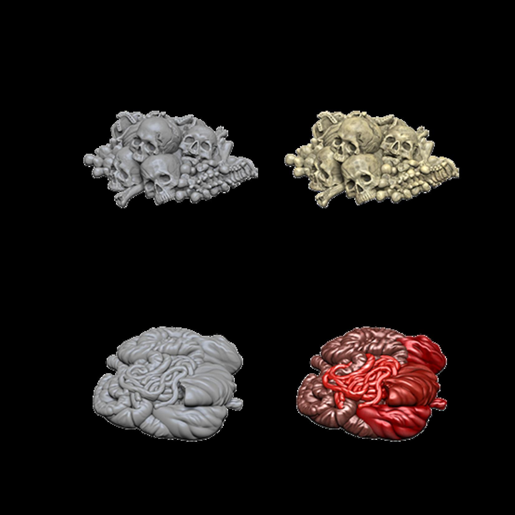 WizKids WizKids Deep Cuts Unpainted Miniatures: Pile of Bones & Entrails (W6)