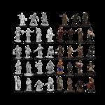 WizKids WizKids Deep Cuts Unpainted Miniatures: Townspeople & Accessories (W8)