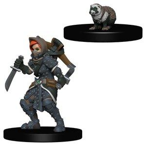 WizKids WizKids Wardlings: W2 Girl Rogue & Badger