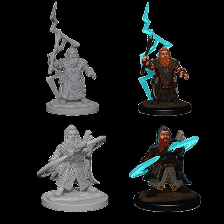 WizKids Pathfinder Deep Cuts Unpainted Miniatures: Dwarf Male Sorcerer (W4)