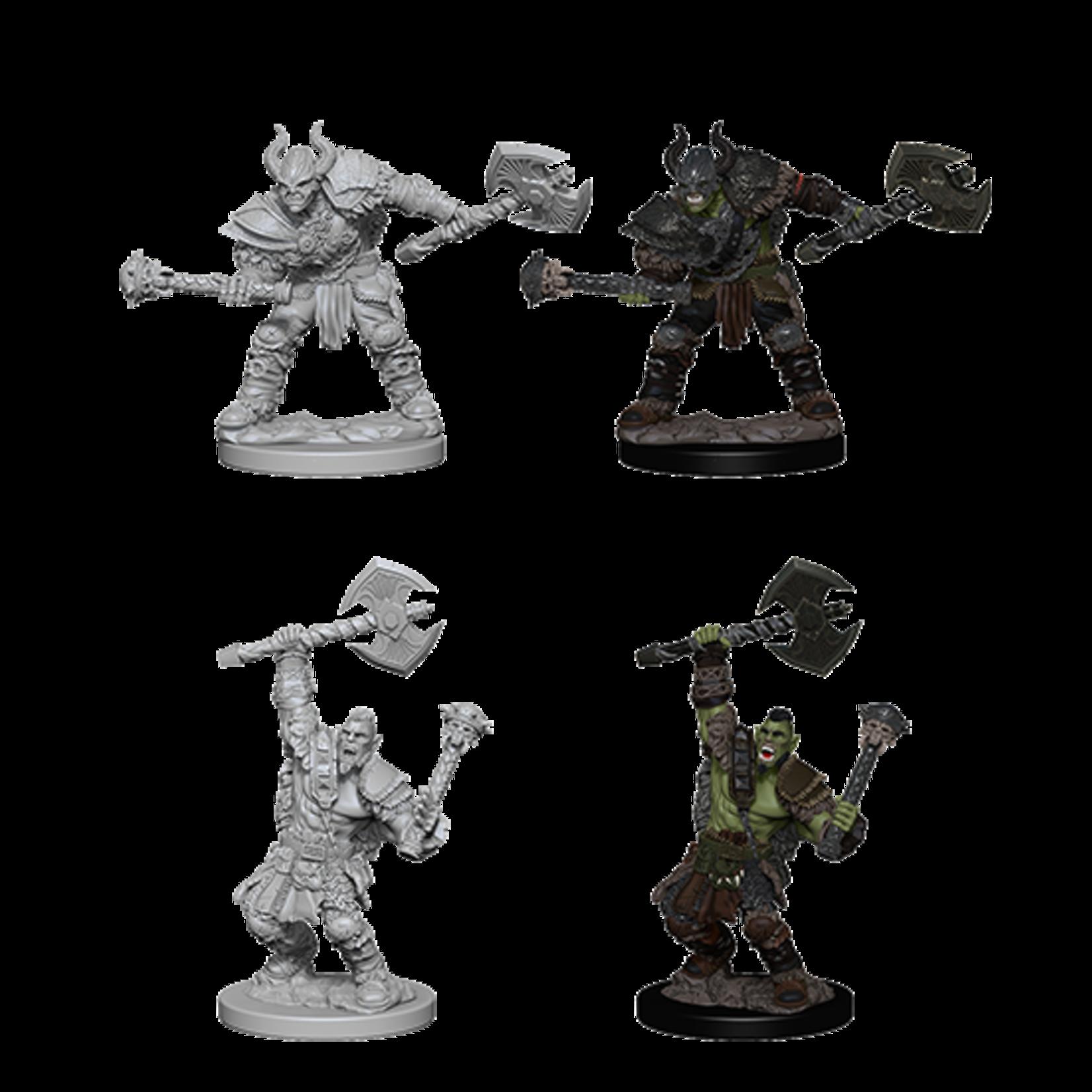 WizKids Pathfinder Deep Cuts Unpainted Miniatures: W3 Half-Orc Male Barbarian