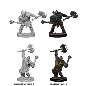 WizKids Pathfinder Deep Cuts Unpainted Miniatures: W3 Half-Orc Male Barbarian