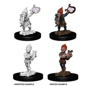 WizKids Pathfinder Battles Deep Cuts Unpainted Miniatures: Gnome Male Bard (W5)