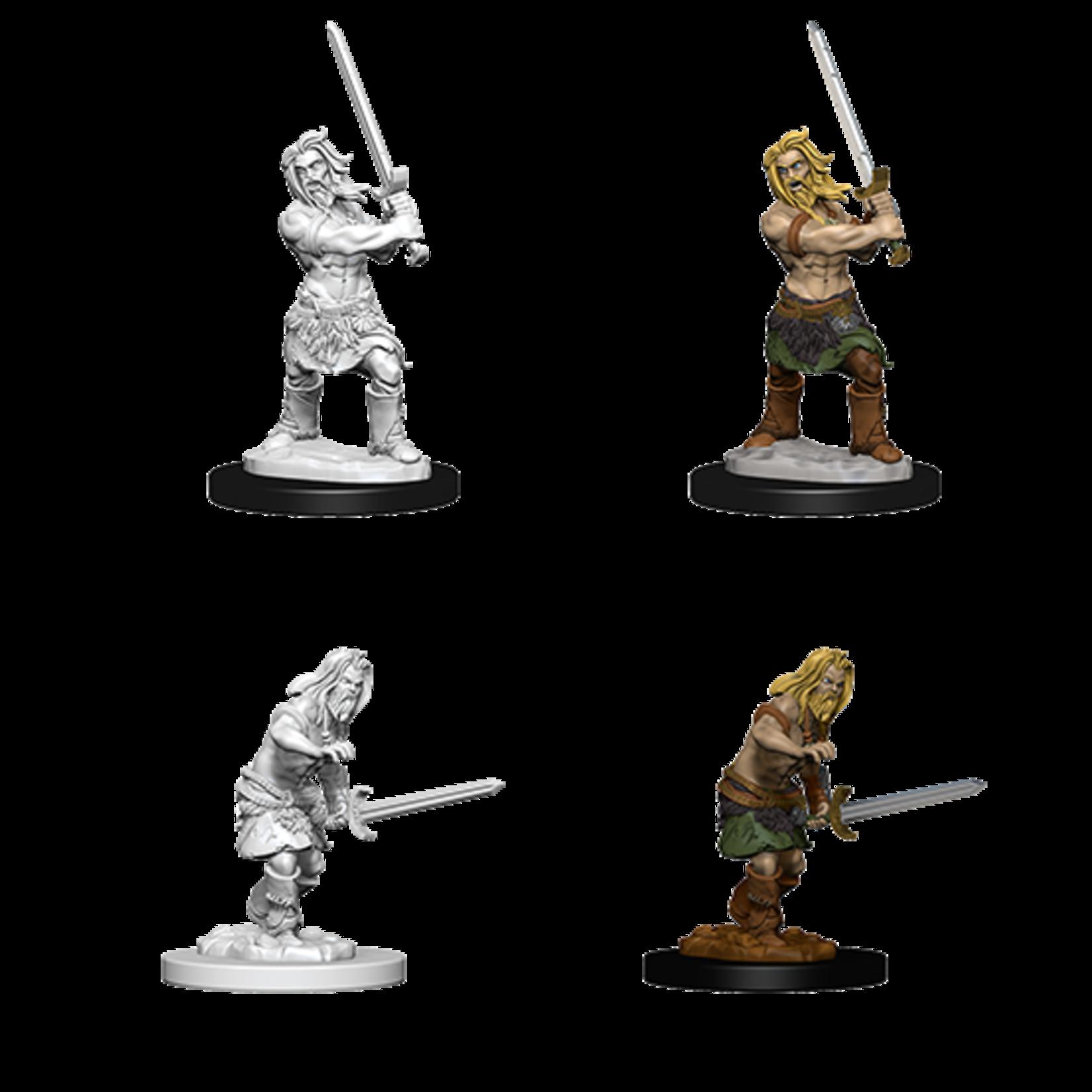 WizKids Pathfinder Battles Deep Cuts Unpainted Miniatures: Human Male Barbarian (W6)