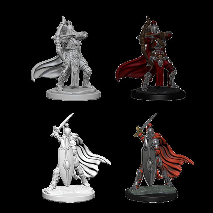 WizKids Pathfinder Battles Deep Cuts Unpainted Miniatures: Female Knights / Gray Maidens (W6)