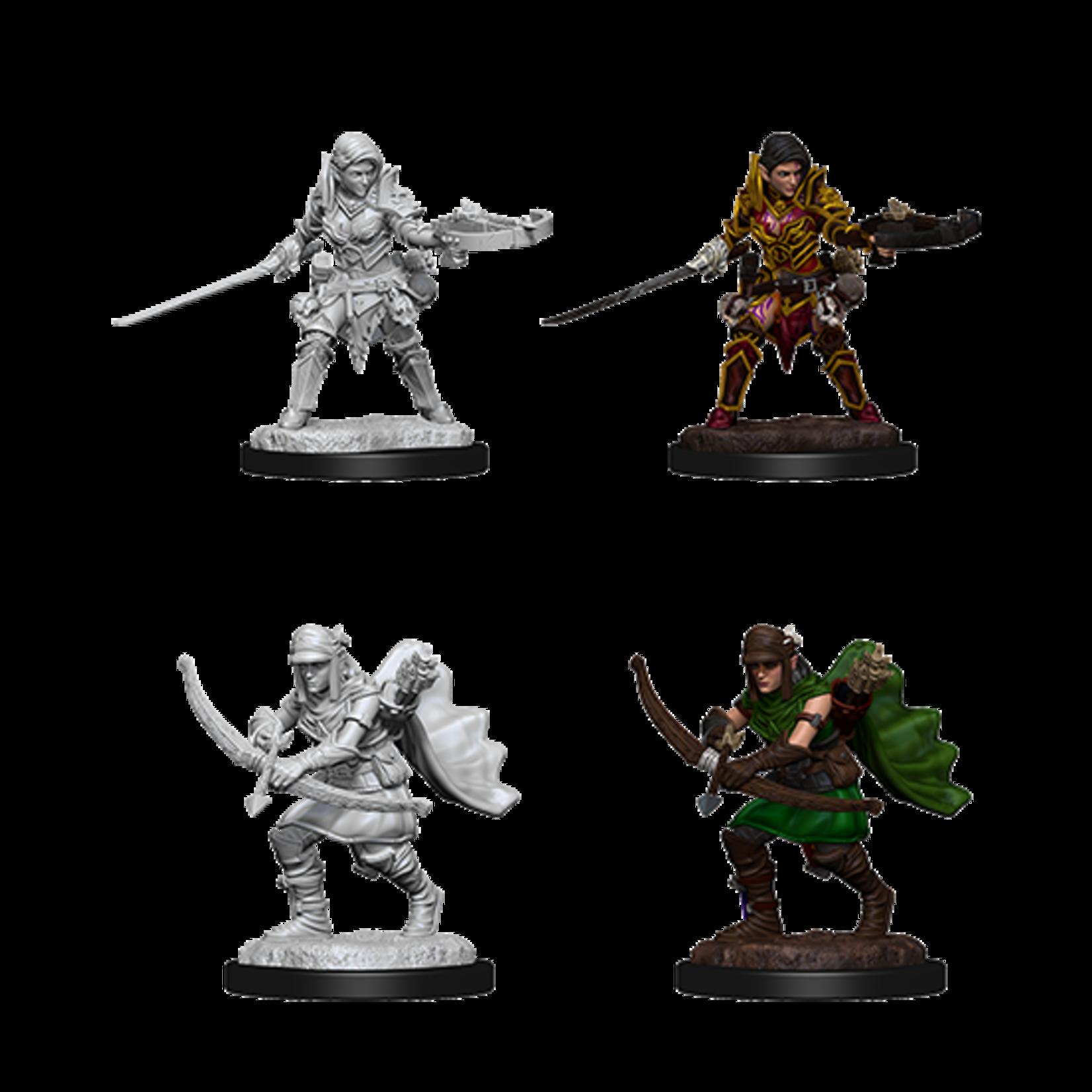 WizKids Pathfinder Battles Deep Cuts Unpainted Miniatures: Half-Elf Female Ranger (W7)