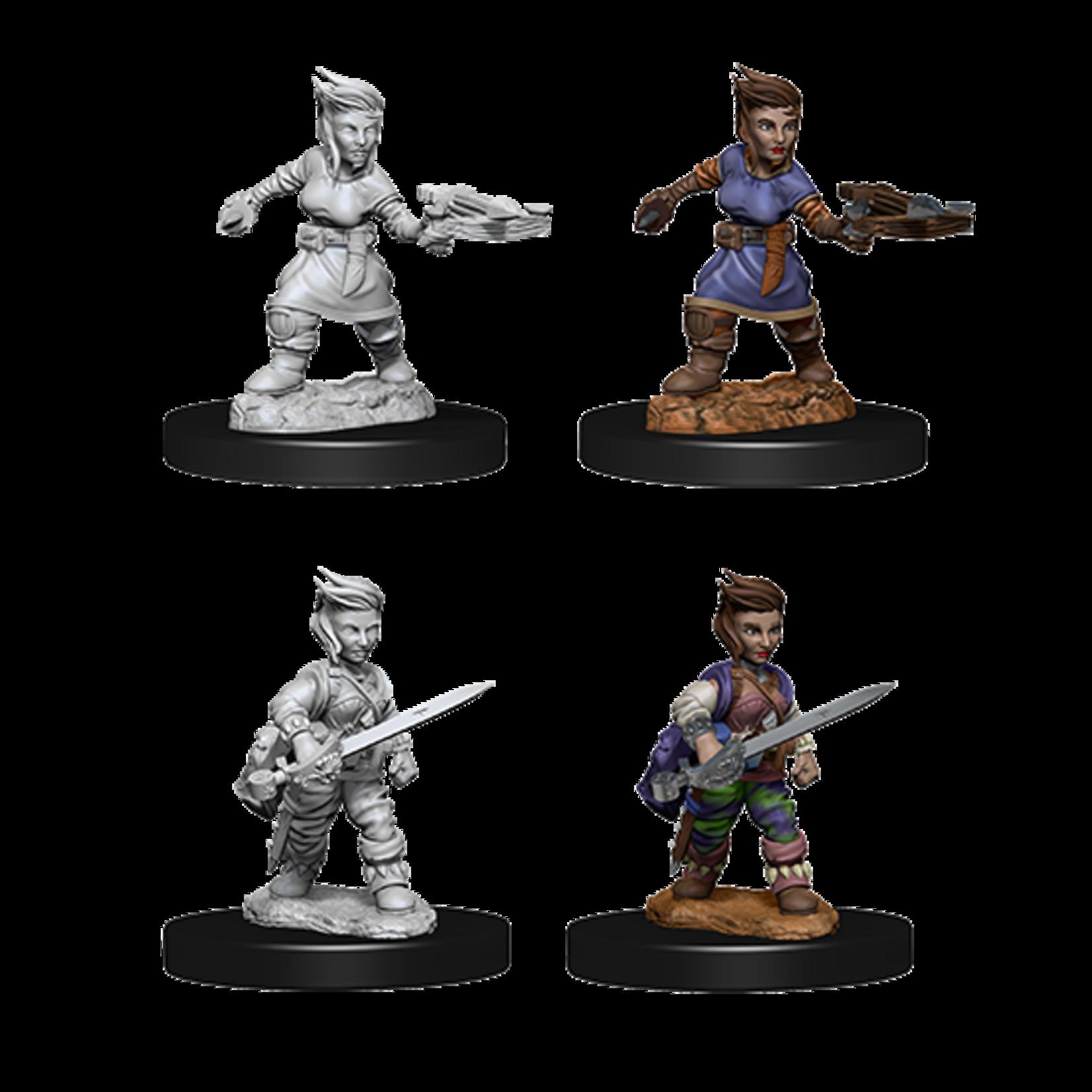WizKids Pathfinder Battles Deep Cuts Unpainted Miniatures: Halfling Female Rogue (W8)