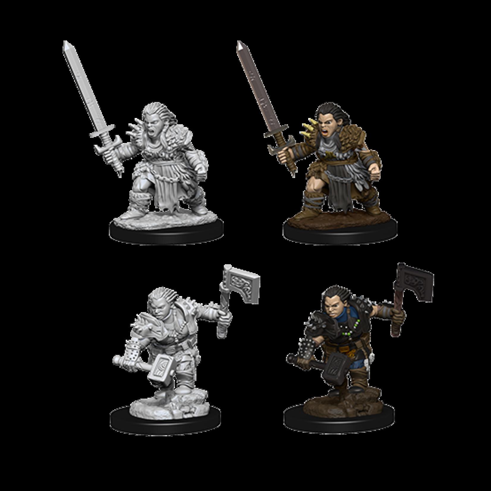 WizKids Pathfinder Battles Deep Cuts Unpainted Miniatures: Dwarf Female Barbarian (W8)
