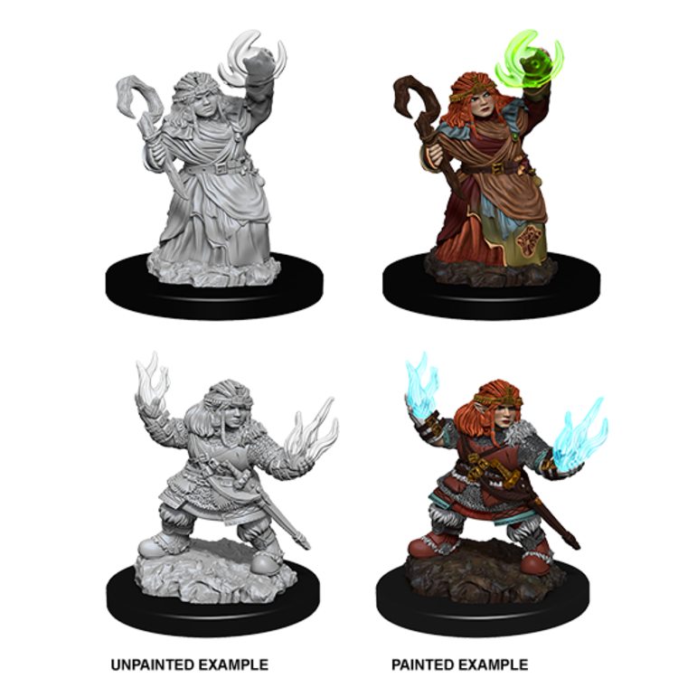 WizKids Pathfinder Battles Deep Cuts Unpainted Miniatures: Dwarf Female Summoner (W7)