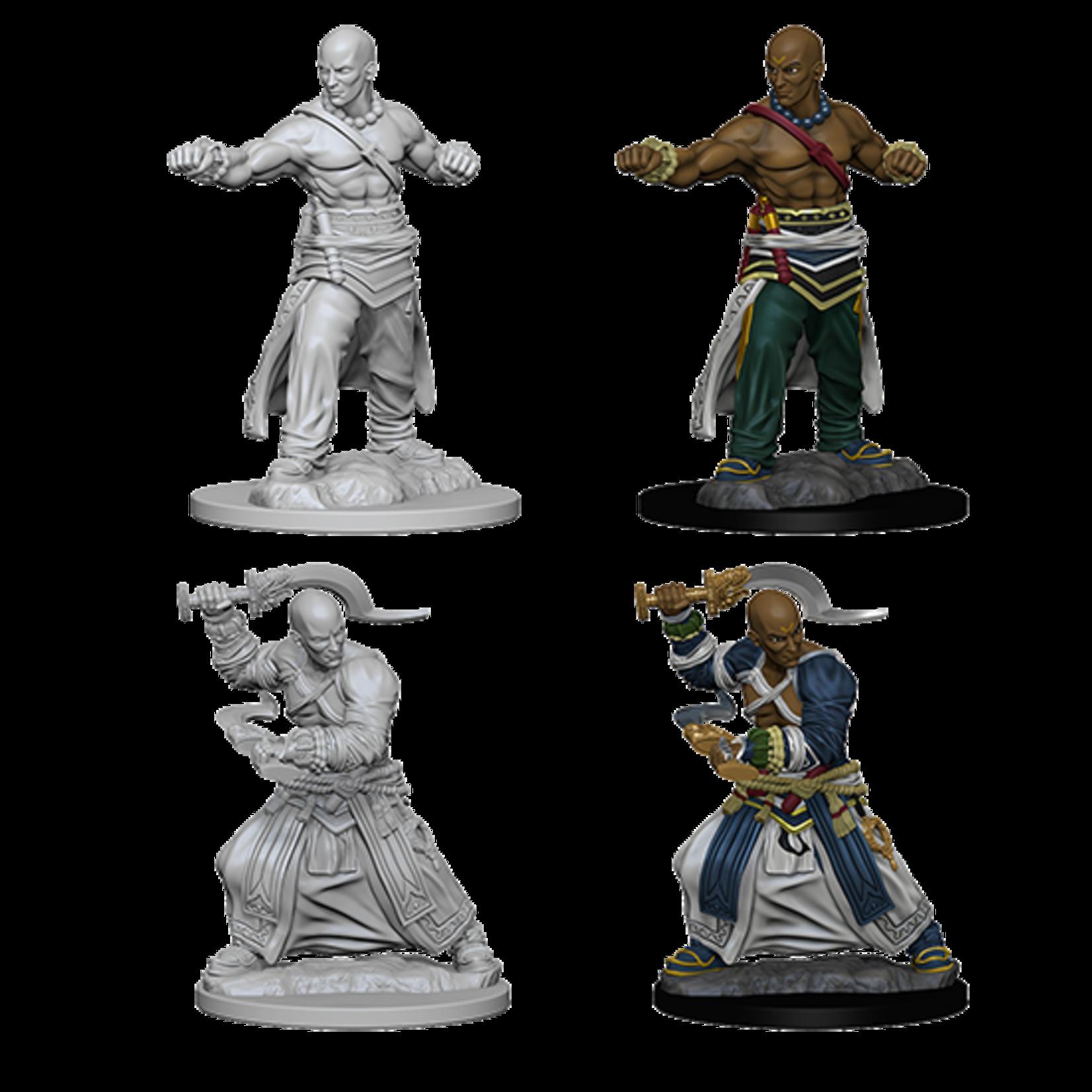WizKids Pathfinder Deep Cuts Unpainted Miniatures: Human Male Monk (W1)