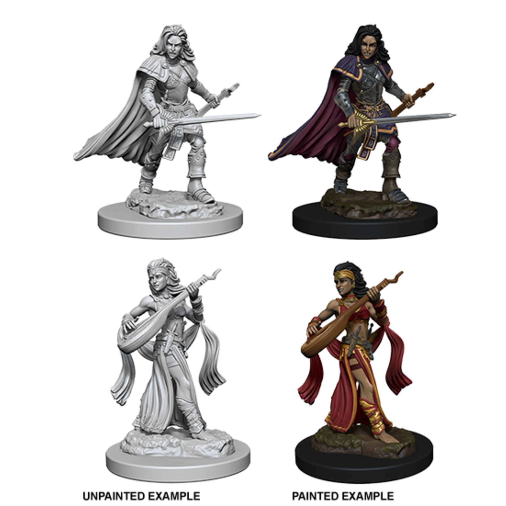 WizKids Pathfinder Deep Cuts Unpainted Miniatures: Human Female Bard (W4)