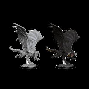 WizKids D&D Nolzur's Marvelous Miniatures: Young Black Dragon (W8)