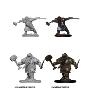 WizKids D&D Nolzur's Marvelous Miniatures: Dwarf Male Fighter (W1)