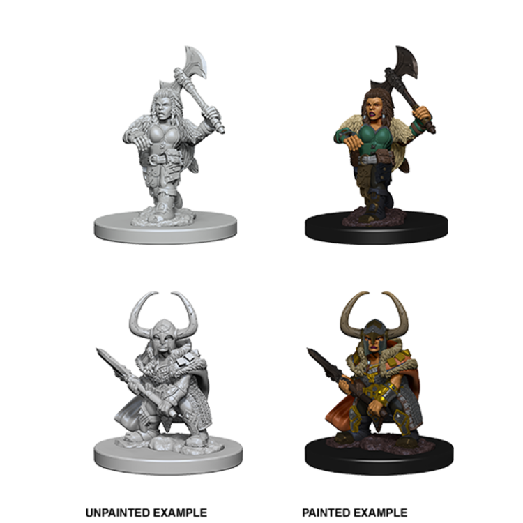 WizKids D&D Nolzur's Marvelous Miniatures: Dwarf Female Barbarian (W4)