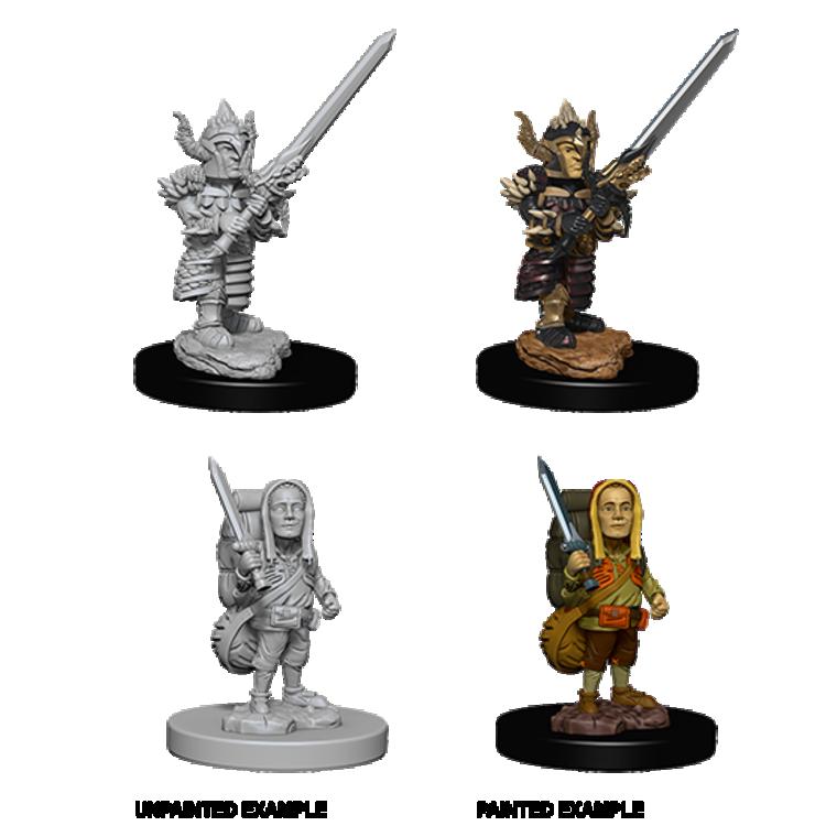 WizKids D&D Nolzur's Marvelous Miniatures: Halfling Male Fighter (W6)