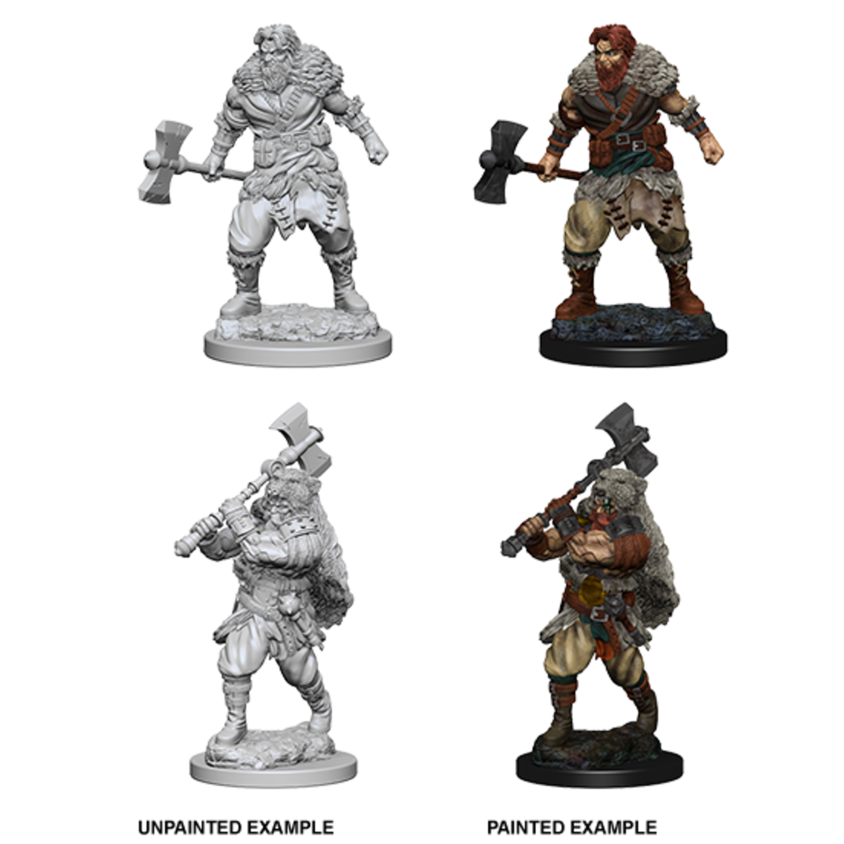 WizKids D&D Nolzur's Marvelous Miniatures: Human Male Barbarian (W1)