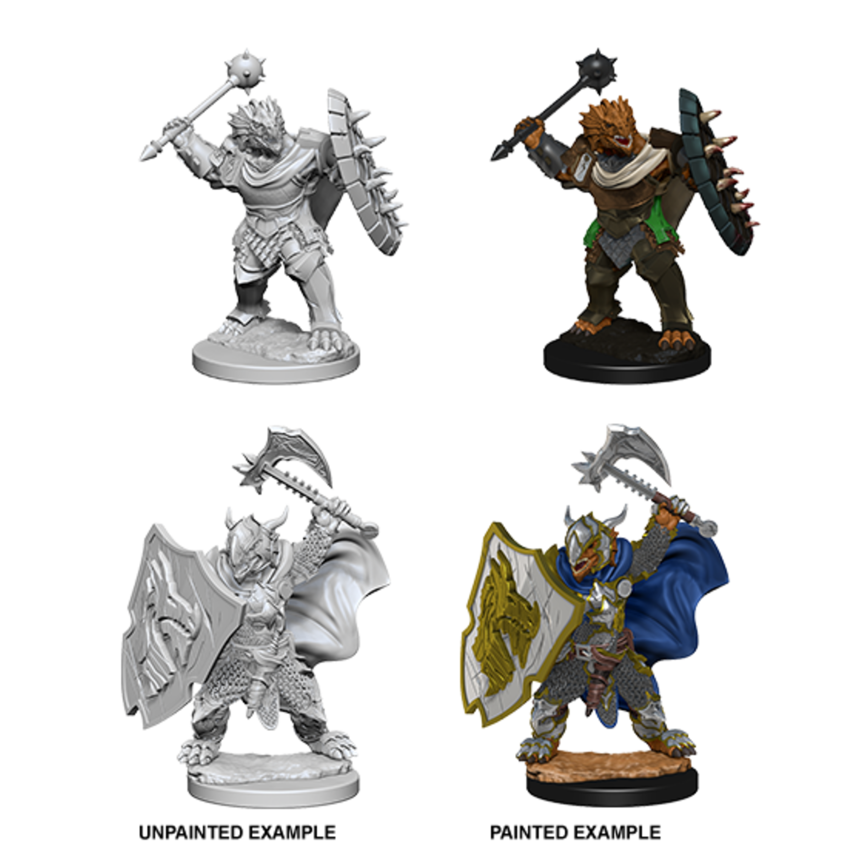 WizKids D&D Nolzur's Marvelous Miniatures: Dragonborn Paladin with Mace/Axe & Shield (W4)
