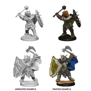 WizKids D&D Nolzur's Marvelous Miniatures: Dragonborn Paladin with Mace/Axe & Shield (W4)