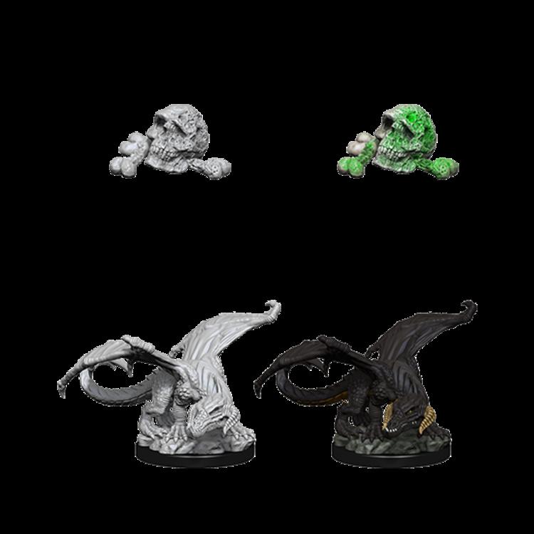 WizKids D&D Nolzur's Marvelous Miniatures: Black Dragon Wyrmling (W10)
